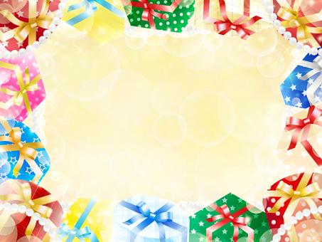 Gift box frame · background · wallpaper 5