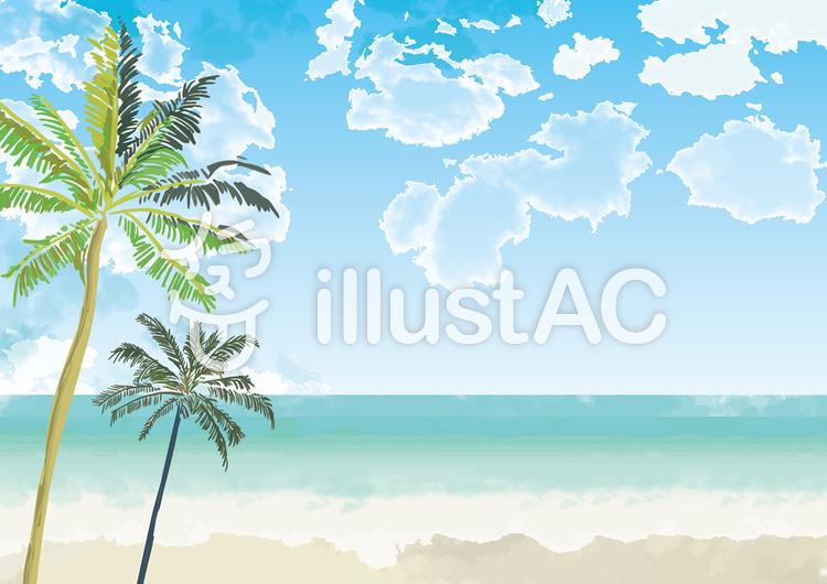 夏の日のビーチ