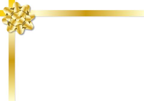 Frame - Ribbon flower gold