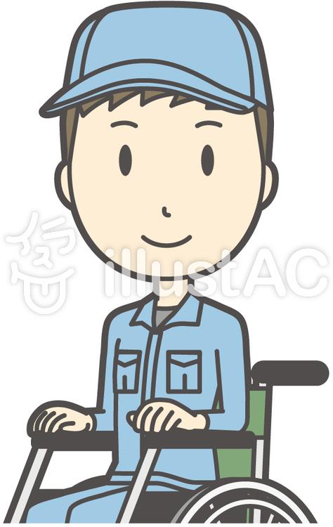 作業員青年-240-バストのイラスト