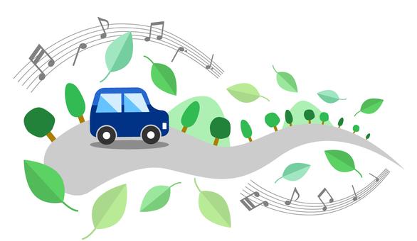 Fresh green drive image