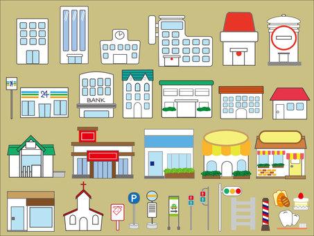 Illustration of a building ①
