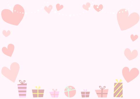 Heart gift box valentine
