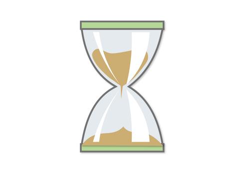 Flat icon hourglass