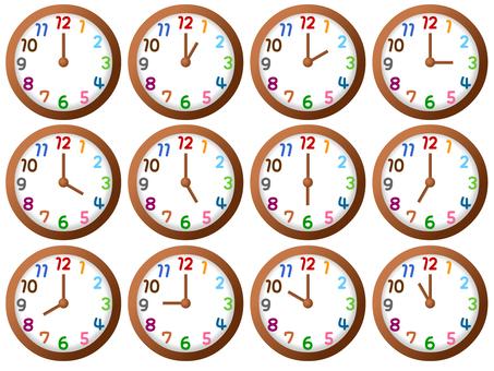 시계 12 개