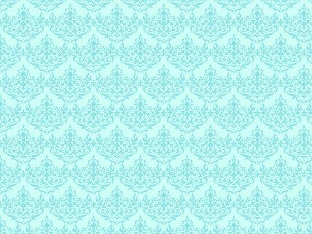 Damask pattern mint blue