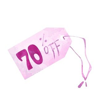 70% off tag