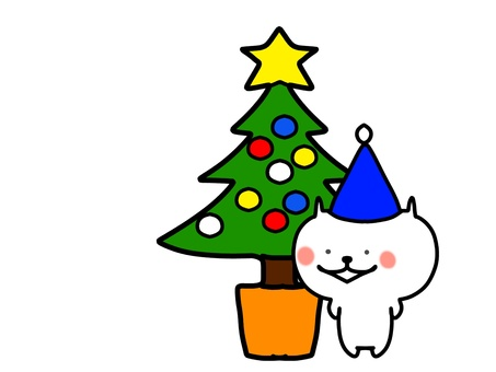 Christmas tree and cat 2