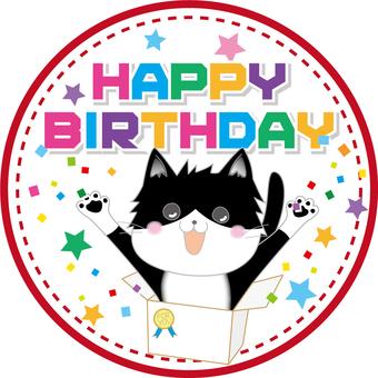 Birthday card circle (6 cats horny)