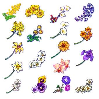 꽃의 원 포인트