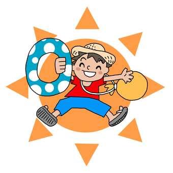 Boy / summer vacation