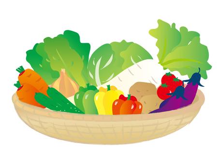 蔬菜與各種籃子