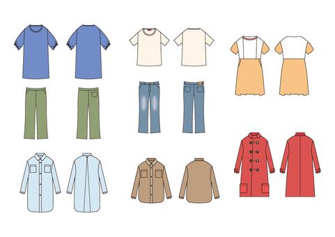 Various clothes Various clothes