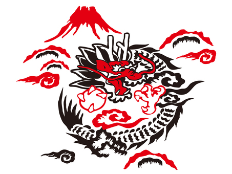 Ska Pattern - Dragon and Mount Fuji