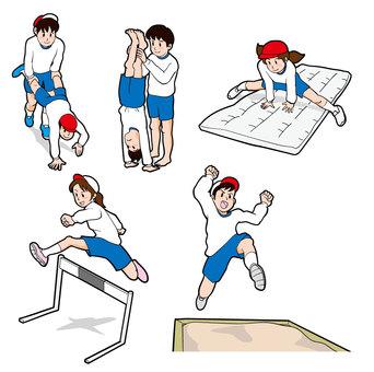 Elementary school physical education class