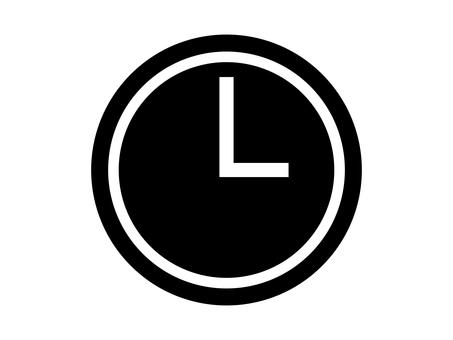 Watch silhouette alarm alarm
