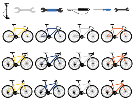 Bicycle illustration set