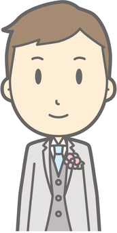 Groom Clothes - Front - Bust