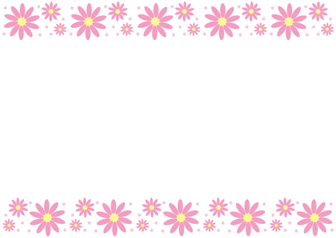 Frame - Flower 3 Pink
