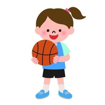 농구를하는 여자