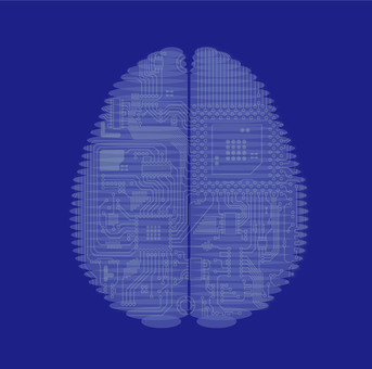 CT image of AI in the brain