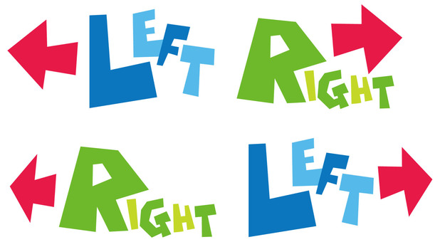 Right · Left · Letter icon LEFT · RIGHT