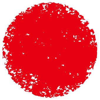 Stamp circle _ red _ cs