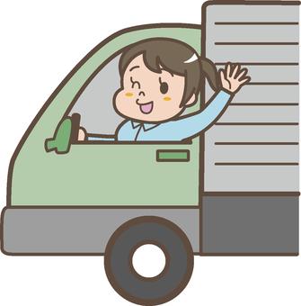 Truck female driver