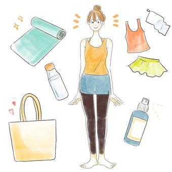 Yoga preparation items