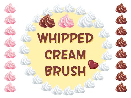 Whipped cream brush