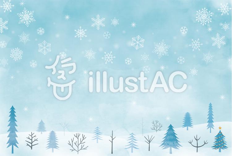 冬の風景のカードイラスト No 1305657無料イラストならイラストac
