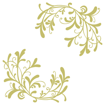Art Nouveau Decoration 15 (Yellow)