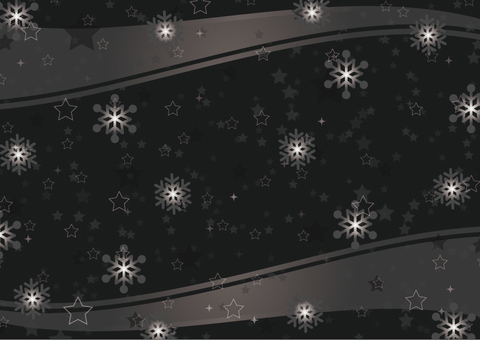 Star and snow background Black