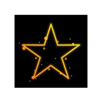 A star like a neon