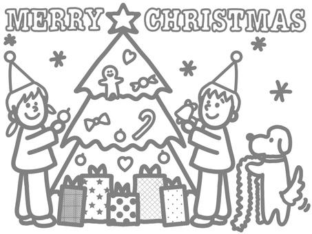 크리스마스 색칠 공부 무료 클립 아트 Illustac