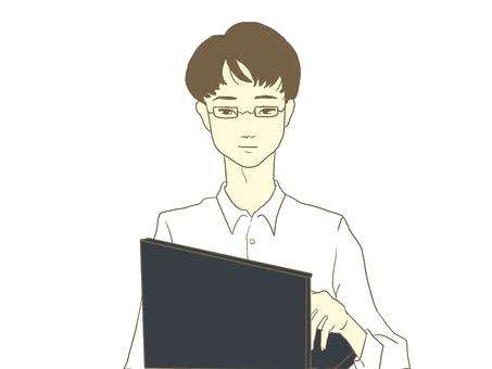 一個人打個人電腦