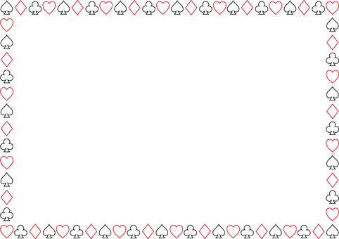 Pattern of playing cards 2d