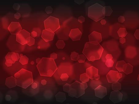六角形燈·深紅色