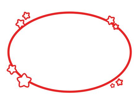 Star frame (red)