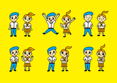 Junior high school student set