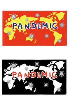 Illustration of a pandemic