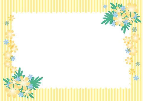 Yellow flower frame 2
