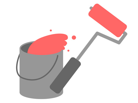 Pink roller and bucket