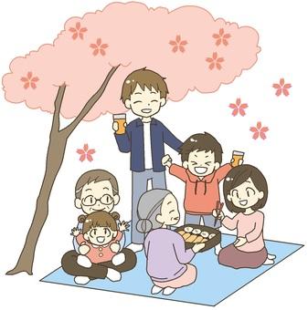 가족 꽃놀이