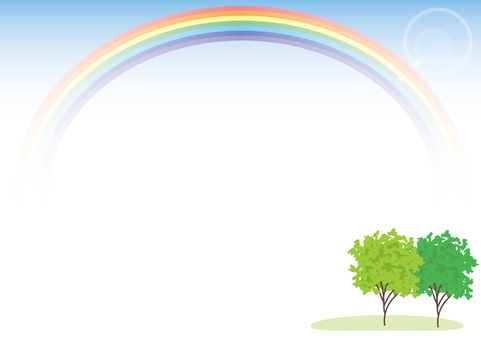 Tree and Rainbow B · Horizontal