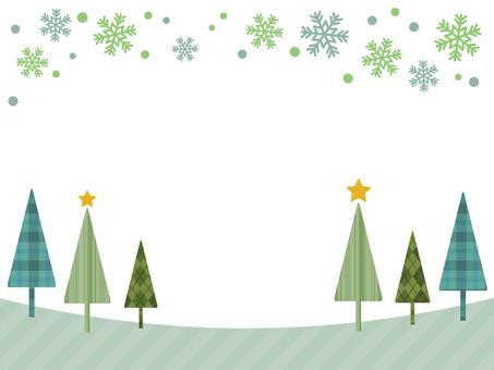 Winter tree Snowflake
