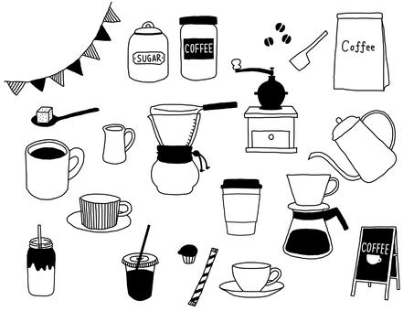 コーヒーイラストセット