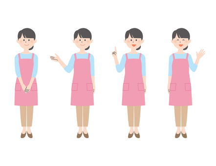 Apron woman (Pink ver.)