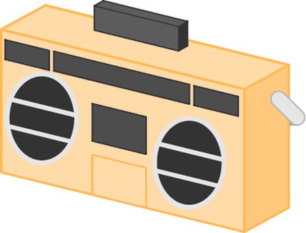 無線電casette_orange