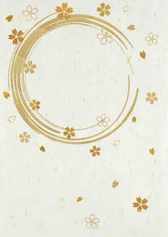 Japanese paper_round brush_cherry blossom_length 2242